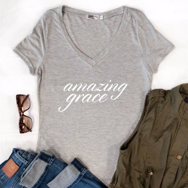 Amazing Grace Tshirt - Tickled Teal LLC