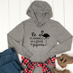 Be A Flamingo in a Flock of Pigeons Graphic Hoodie - Tickled Teal LLC