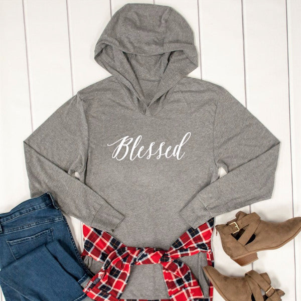Blessed Graphic Hoodie - Tickled Teal LLC