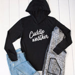 Cuddle Weather Graphic Hoodie - Tickled Teal LLC
