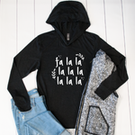 Fa lalala Graphic Hoodie - Tickled Teal LLC