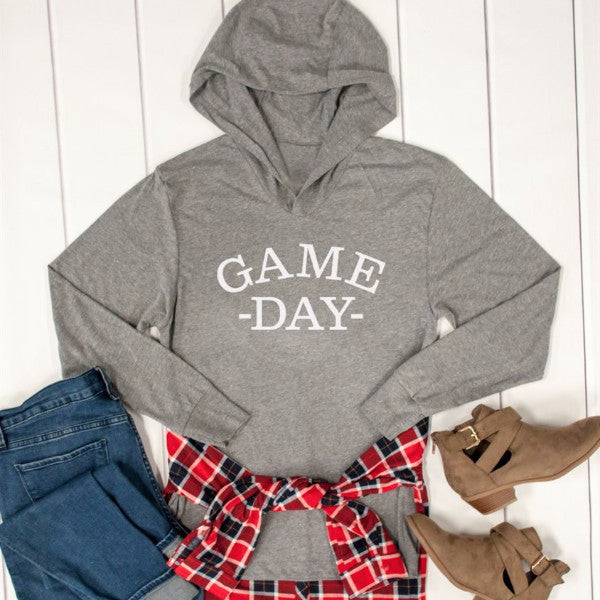 Game Day Graphic Hoodie - Tickled Teal LLC