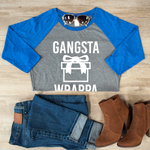 Gangsta Wrappa Raglan Tee - Tickled Teal LLC
