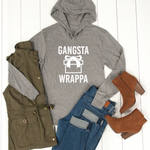 Gangsta Wrappa Graphic Hoodie - Tickled Teal LLC