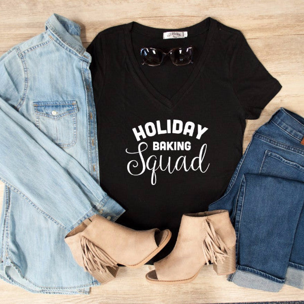 Holiday Baking Squad Tshirt - Tickled Teal LLC