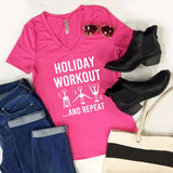 Holiday Workout And Repeat Tshirt