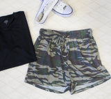 Camo Lounge Shorts - Green - Tickled Teal LLC