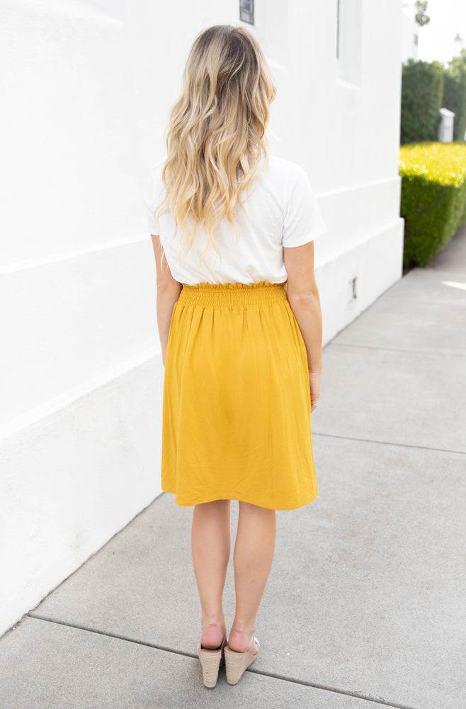 The Tracie Skirt - Mustard