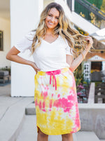 Tie Dye Weekend Skirt - Yellow/Pink