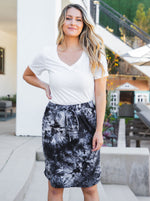 Tie Dye Weekend Skirt - Charcoal