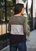 The Tammy Top - Olive/Gray/Black