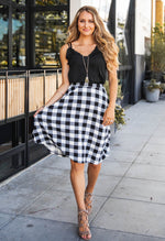Plaid Laura Skirt - White