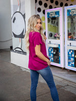 The Brea Top - Fuchsia
