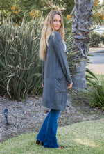 The Mae Cardigan - Charcoal
