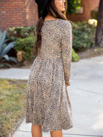 Aurora Dress - Brown Cheetah