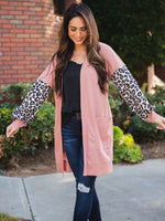 Finch Cardigan - Light Pink/Salmon