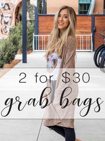 Grab Bags - 2 for $30 - Cardigan/Top
