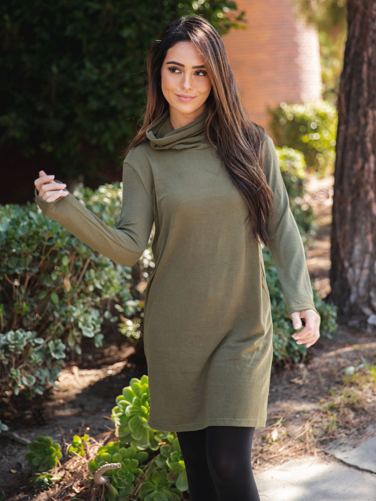 The Mika Dress - Olive