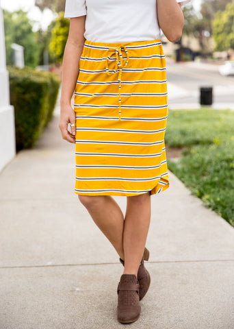Elena Weekend Skirt | S-3X - Yellow