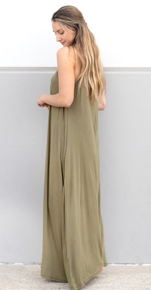 The Everyday Tank Dress - Olive - Tickled Teal LLC