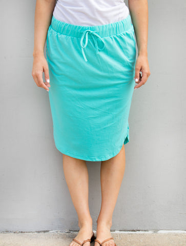 Solid Weekend Skirt - Teal - Tickled Teal LLC