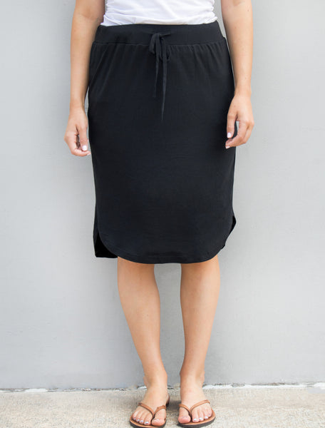 Solid Weekend Skirt - Black - Tickled Teal LLC