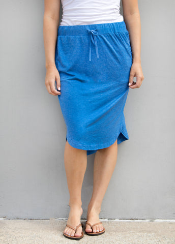 Solid Weekend Skirt - Blue - Tickled Teal LLC