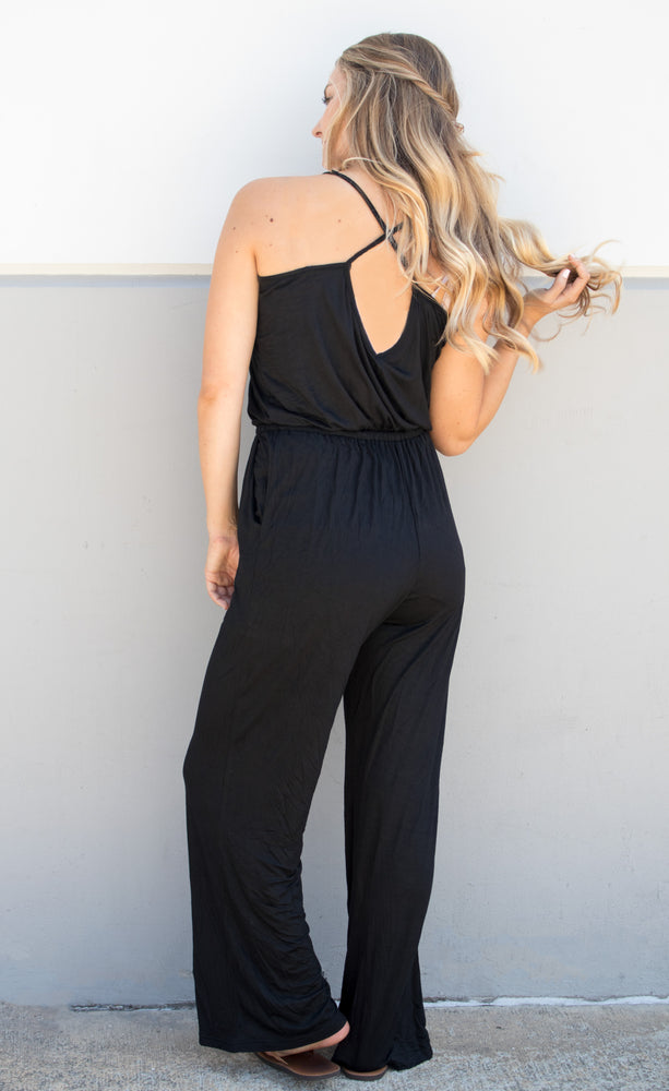 Everday Tank Jumpsuit - Black - Tickled Teal LLC