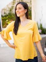 The Emerson Top - Yellow
