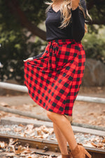 Plaid Eden Skirt - Red
