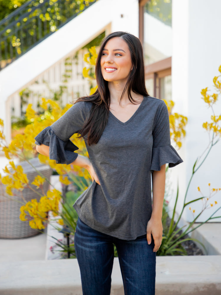 The Emerson Top - Charcoal
