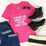 If Britney Can Survive 2007 Tshirt - Tickled Teal LLC