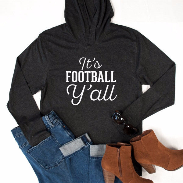 It's Football Y'all Graphic Hoodie - Tickled Teal LLC