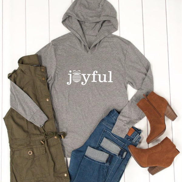 Joyful Graphic Hoodie - Tickled Teal LLC
