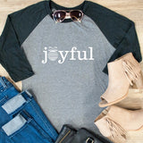Joyful Raglan Tee - Tickled Teal LLC