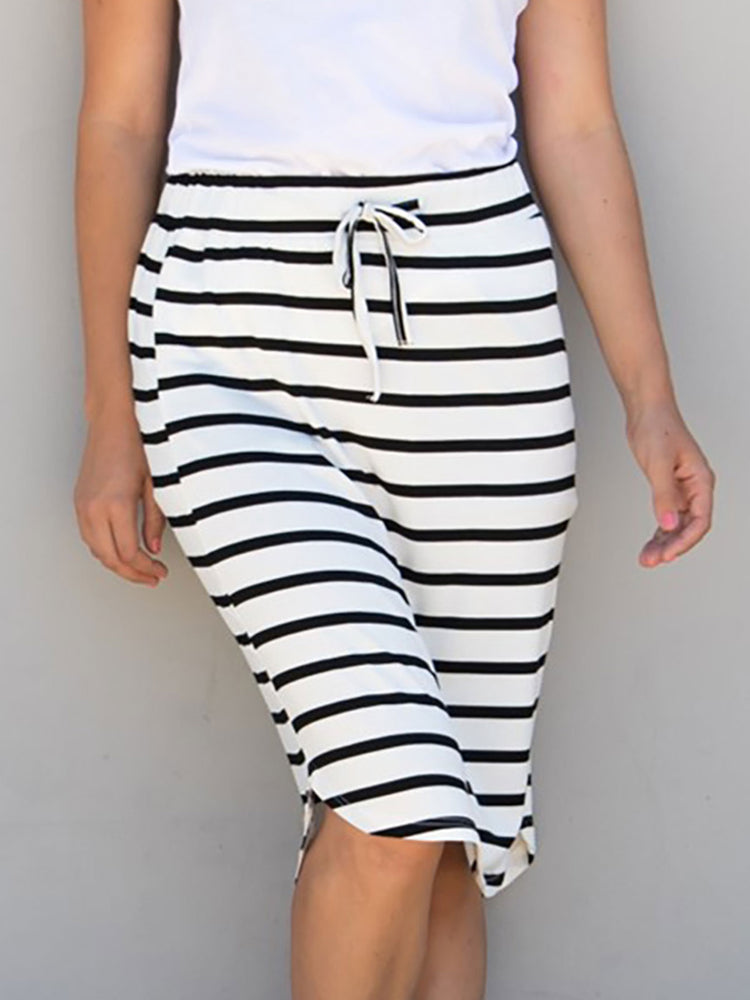 Stripe Weekend Skirt - White Stripe