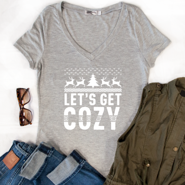 Let's Get Cozy Tshirt - Tickled Teal LLC