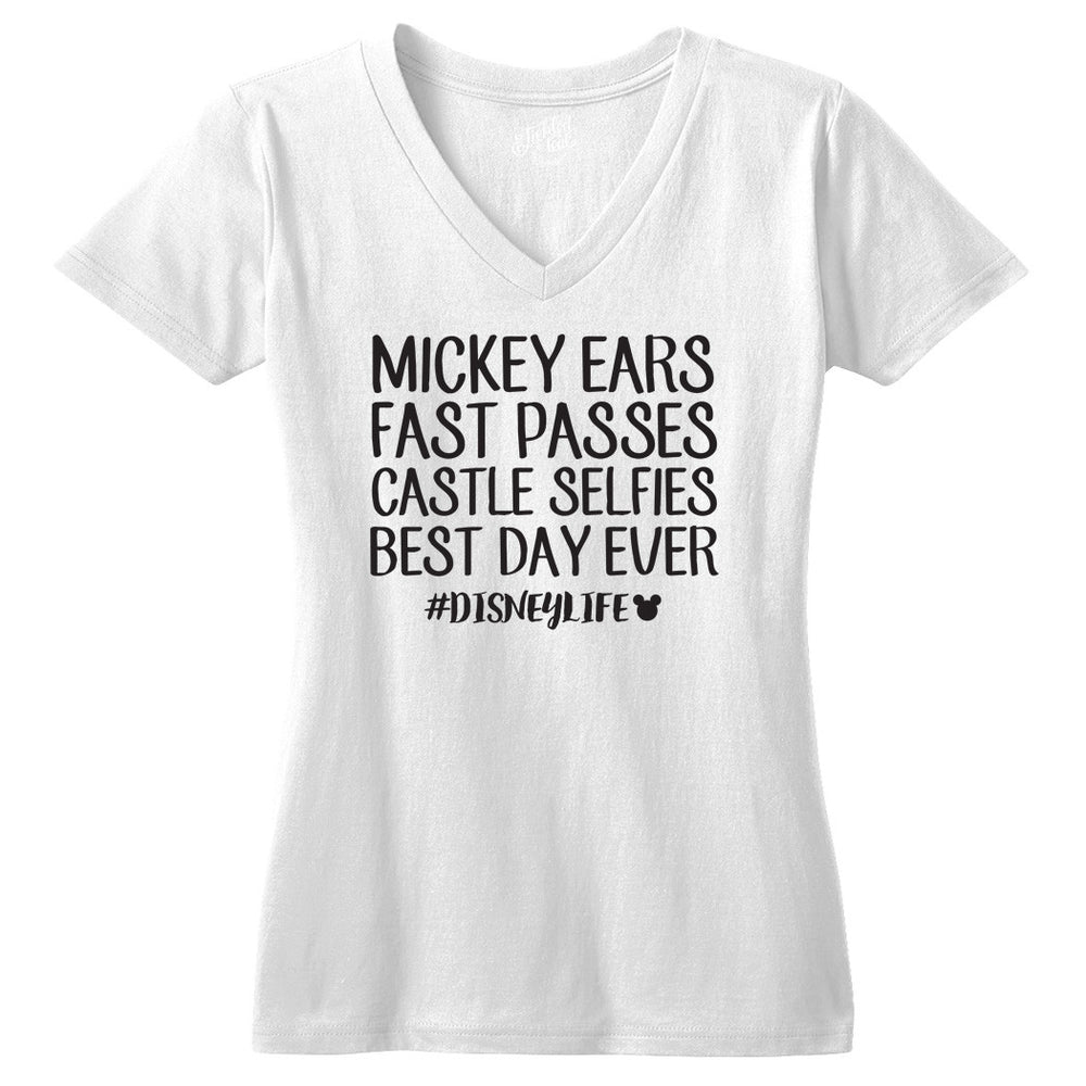 Mickey Ears, Fast Passes #disneylife Tshirt - Tickled Teal LLC