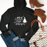 Most Wonderful Time Graphic Hoodie - Tickled Teal LLC