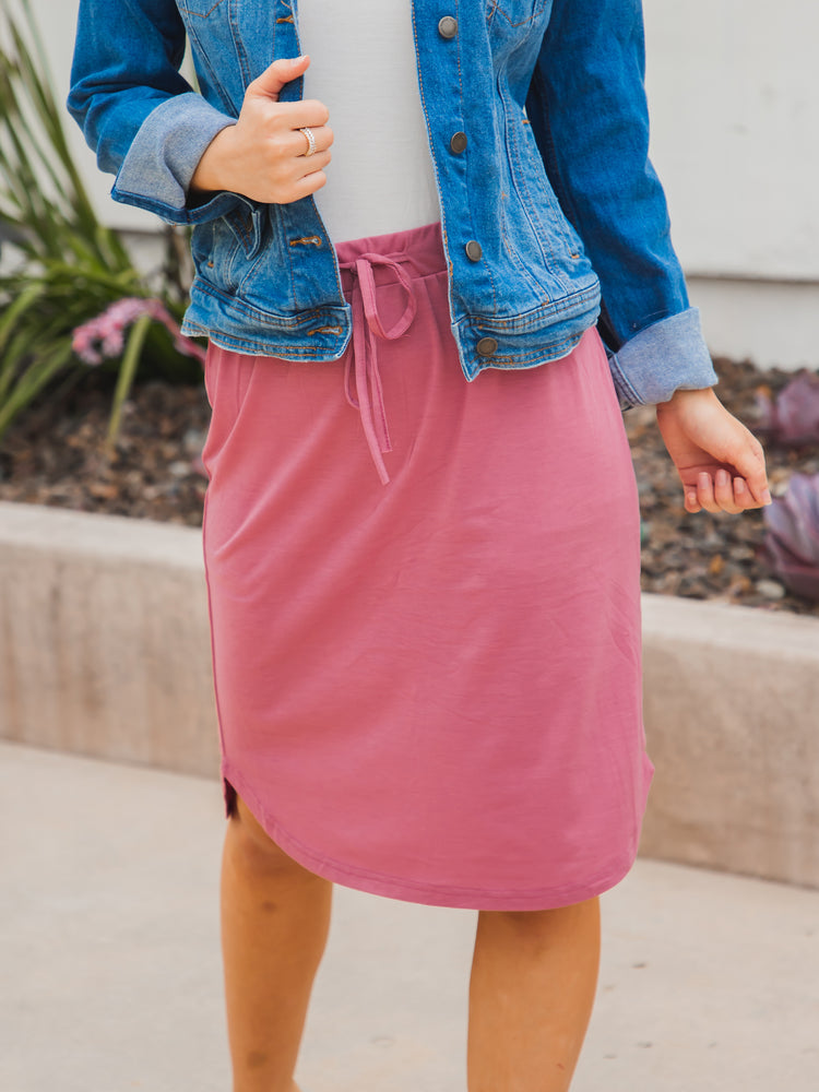 Weekend Skirt - Rose Pink