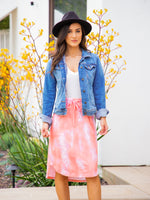 Watercolor Weekend Skirt - Coral
