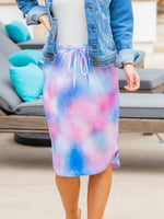 Watercolor Weekend Skirt - Pink Blue