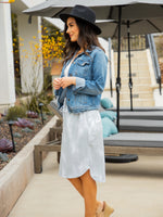 Watercolor Weekend Skirt - Gray