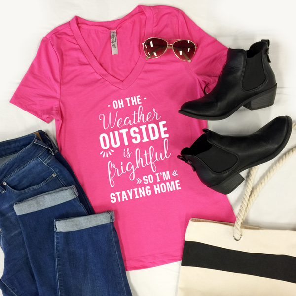 Oh The Weather Outside Tshirt - Tickled Teal LLC