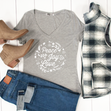 Peace Joy Love Tshirt - Tickled Teal LLC