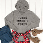 S'mores Campfires & Boots Graphic Hoodie - Tickled Teal LLC