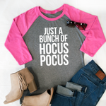 It's just a bunch of Hocus Pocus Raglan Tee - Tickled Teal LLC