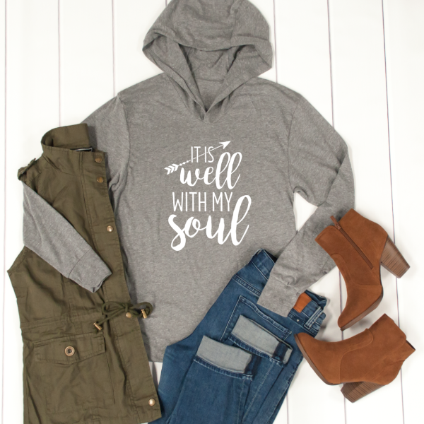 It is well with my soul Graphic Hoodie - Tickled Teal LLC