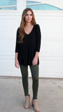 Moto Jegging - Olive - Tickled Teal LLC