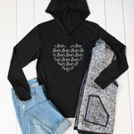 Heart (Love text) Graphic Hoodie - Tickled Teal LLC